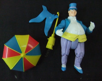Vintage Batman Penguin Action Figure - 1989 Penguin Shooting Umbrella Batman Super Hero Complete