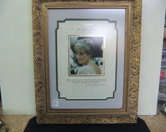 Princess Diana - Princess of Wales - Framed Memorial Commemorative Picture