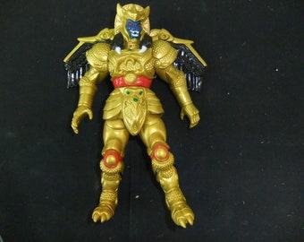 "Vintage Mighty Morphin Power Rangers  Sword Slashing Goldar  Bandai 8"" Figure Complete 1995"