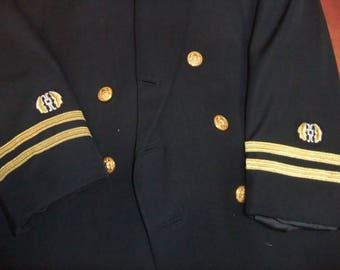 Vintage US Navy Jag Officer Dress Blue Uniform Jacket - US Navy Judge Advocate General Corps Officer 1970's -  Military Uniform - Navy