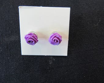 Vintage Avon Jewelry Purple Rose Blossom Earrings Collectible Avon Jewelry
