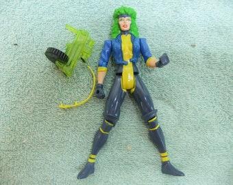 Vintage X Men Rogue Action Figure - 1996 X Men Rogue  Complete