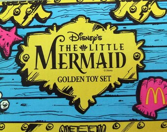 Vintage McDonald's Official Little Mermaid Happy Meal Golden Toy Collector Set
