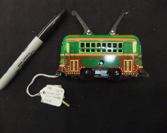 Vintage Windup Tin Cable Car