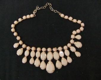 Vintage Pink Acrylic Necklace