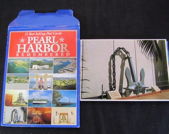Vintage Military History Pearl Harbor December 7th 1941 Post Card Set of (12)