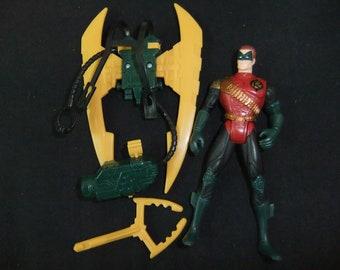 Vintage Robin Batman ForeverAction Figure - 1995 Robin Batman Forever Hydro Claw Super Hero Complete