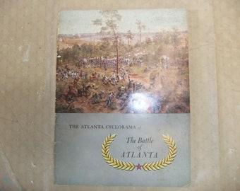 Vintage Civil War Book - The Atlanta Cyclorama - The Battle Of Atlanta - Original printing in 1959