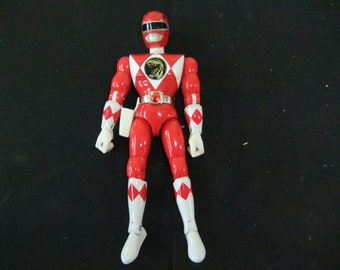"Vintage Mighty Morphin Power Rangers Jason Red Ranger Bandai 8"" Figure Complete 1993"