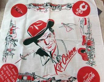 Vintage Coca Cola Kit Carson Vintage Neckerchief Kit Carson 1985