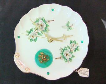 Handcrafted Vintage Plate Clock