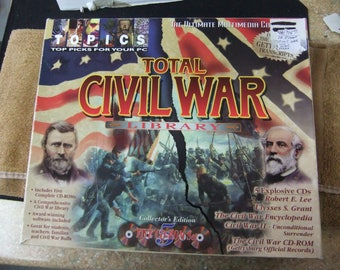 Vintage Civil War CD Library Package - 5 CD Collector Edition - Ulysses S Grant - Robert E Lee