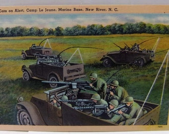 WWII Camp Le Jeune USMC Military Post Card WWII Camp Le Jeune Marine Base Post Card Unused