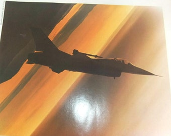 Vintage Aircraft Military Poster US Air Force Lithograph Series -  F-16 Air Combat Fighter - 288L - Military Poster