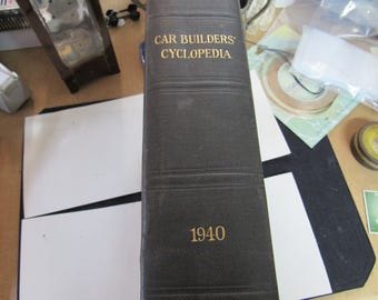 """Vintage Railroad Rare Hardcover 1940 Rolling Stock - """"Car Builder's Cyclopedia""""  By Roy V Wright - Rare Hardcover"""
