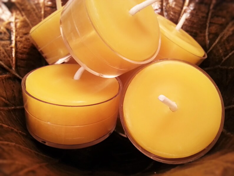 Unscented 50 Beeswax Tea Light Candles All Natural Tealight Bulk 100/% Pure Locally Sourced