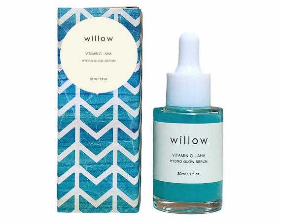 Hydro Glow Serum with Vitamin C, Marine Collagen and AHAs. Brightening, Hydrating.