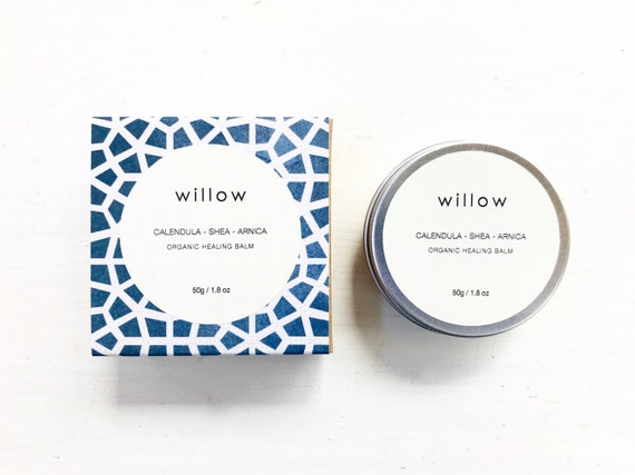 Organic Healing Balm Infused with Calendula, Arnica and Tea Tree, Healing Salve for Lips and Body