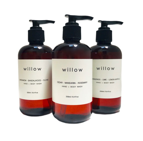 Organic Hand and Body Wash, 500ml, Natural Castile, Olive Oil Soap infused with Essential Oils and Kelp Extract