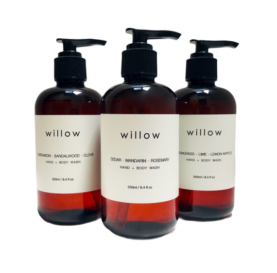 Organic Hand and Body Wash, 250ml, Natural Castile, Olive Oil Soap infused with Essential Oils and Kelp Extract