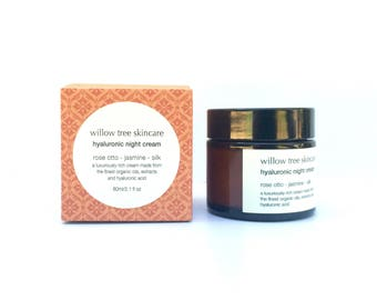 Hyaluronic Night Cream with Silk, Rosehip, Jasmine and Rose Otto