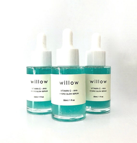 Hydro Glow Serum with Vitamin C, Marine Collagen and AHAs. Brightening, Hydrating.