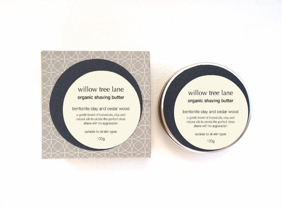 Organic Shaving Butter/Cream/Soap with Bentonite Clay and Cedar