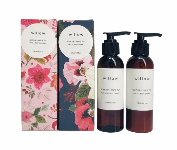 Luminous Skin Duo, Face and Body Cleanser and Face and Body Cream infused with Lavender and Rose Geranium