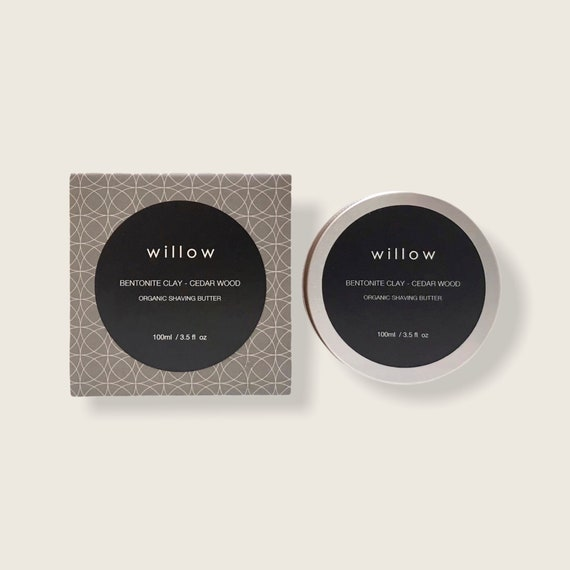 Organic Shaving Butter/Cream/Soap with Bentonite Clay and Cedar