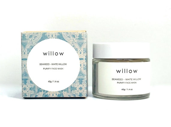 Purify Face Mask with BHA, Seaweed, White Willow, Green Tea and Geranium Leaf. Cleansing Grains, Clay Mask