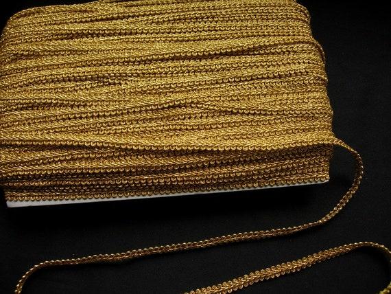 Old Gold Gimp Braid Trim 3//8 X 10 Yards