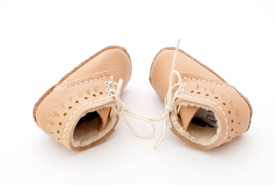 Leather baby booties DIY infant shoes