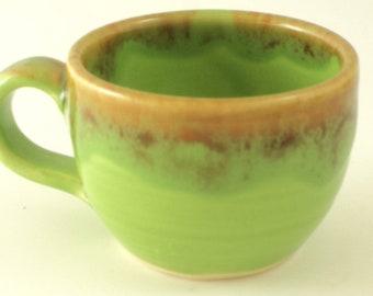 Tiny Espresso Cup in Green Glaze