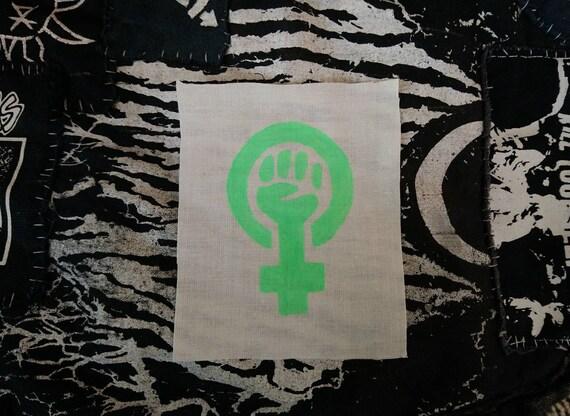 Handpainted leopard feminism feminine symbol patch