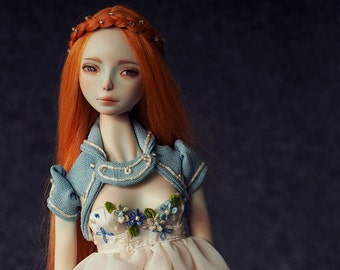 OOAK Full set porcelain BJD doll-Sparrow Art doll