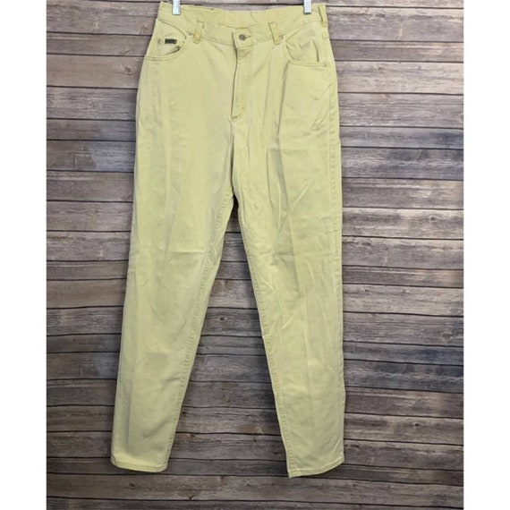 Vintage Riveted Lee Yellow Jeans