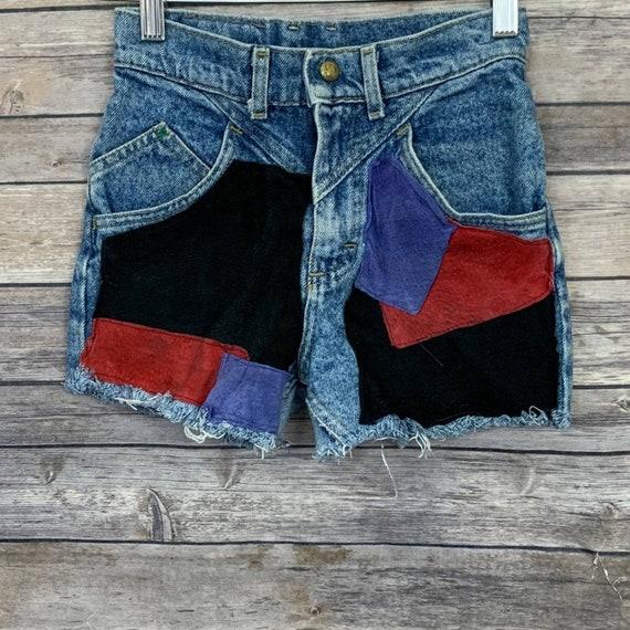 Vintage Lee Patched Denim Shorts