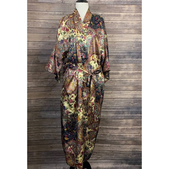 Vintage California Dynasty Floral Robe