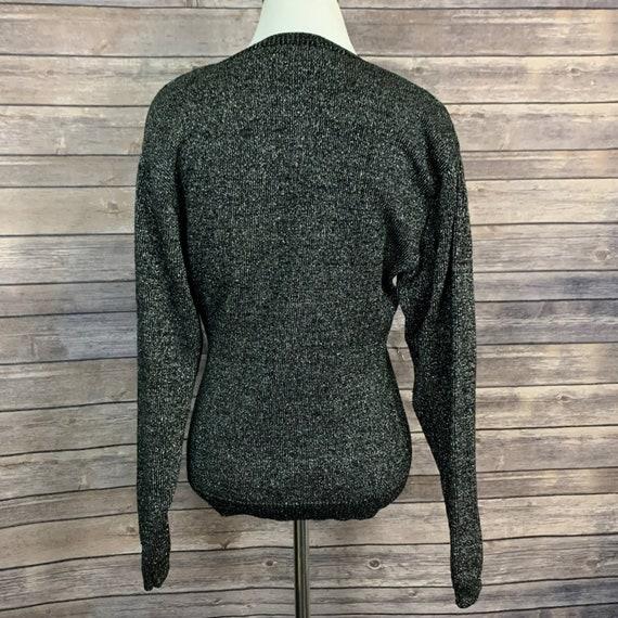 Vintage Kansai Yamamoto Black Metallic Sweater - image 4