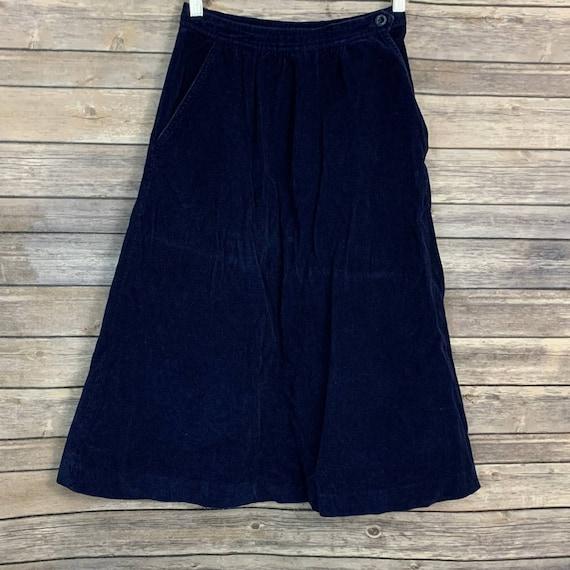Vintage Millay Blue Corduroy Skirt