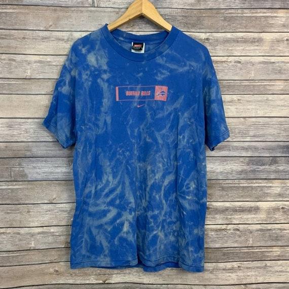 Vintage Nike Buffalo Bills Blue Acid Wash Shirt