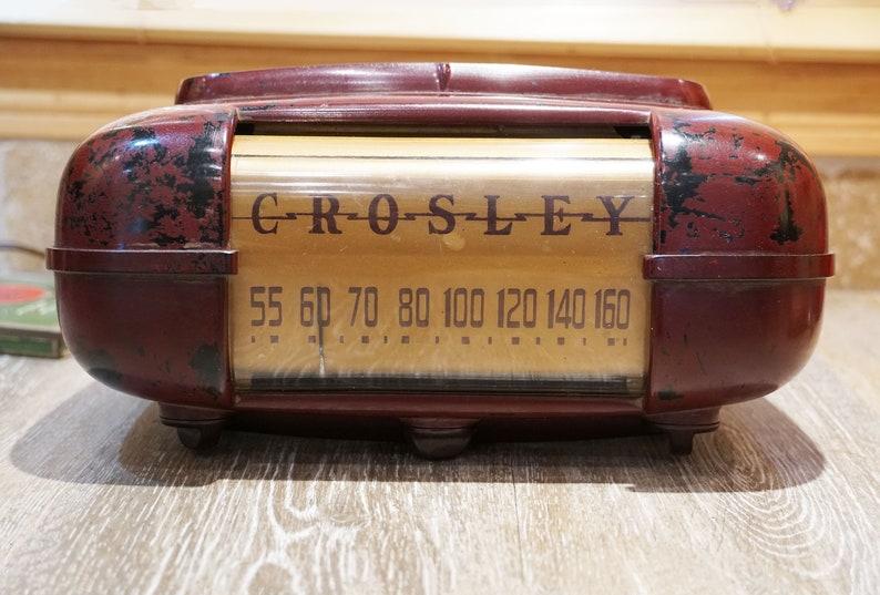 Vintage 1947 Crosley Duette Model 56 T6 Table Radio 5 Tube image 0