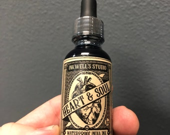 Inkwell's Studio Heart & Soul Waterproof India Ink