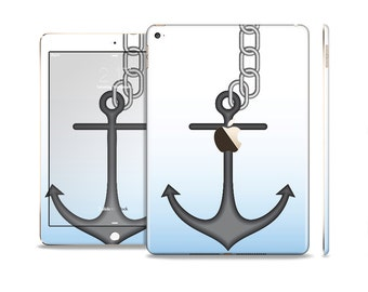 All Models Available The Solid Black Anchor Silhouette Skin Set for the Apple iPad