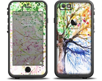 The WaterColor Vivid Tree Skin Set for the Apple iPhone 6 LifeProof Case  (Other Models Available!) f728312217