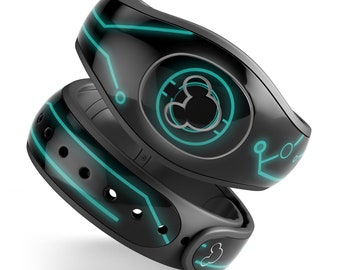 For Disney Magic Band 2 Decal Stickers Skins Tron Legacy Inspired