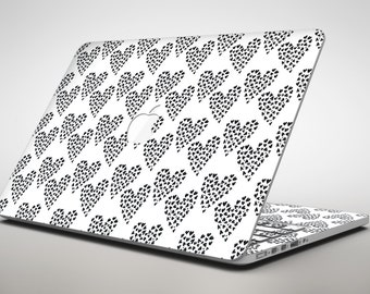 tiny macbook decal etsy MacBook Air 11 2013 slate black tiny hearts within hearts apple macbook air or pro skin decal kit all versions available
