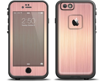 The Rose Gold Brushed Surface Apple iPhone X - 7 - 8 - LifeProof Case Skin  Set (Other Models Available!) 8f512b373d
