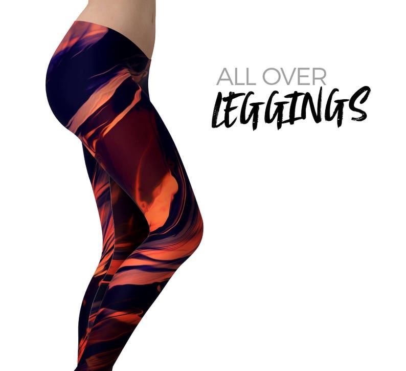 89362d688bff Blurred Abstract Flow V11 Womens Leggings   Yoga Pants