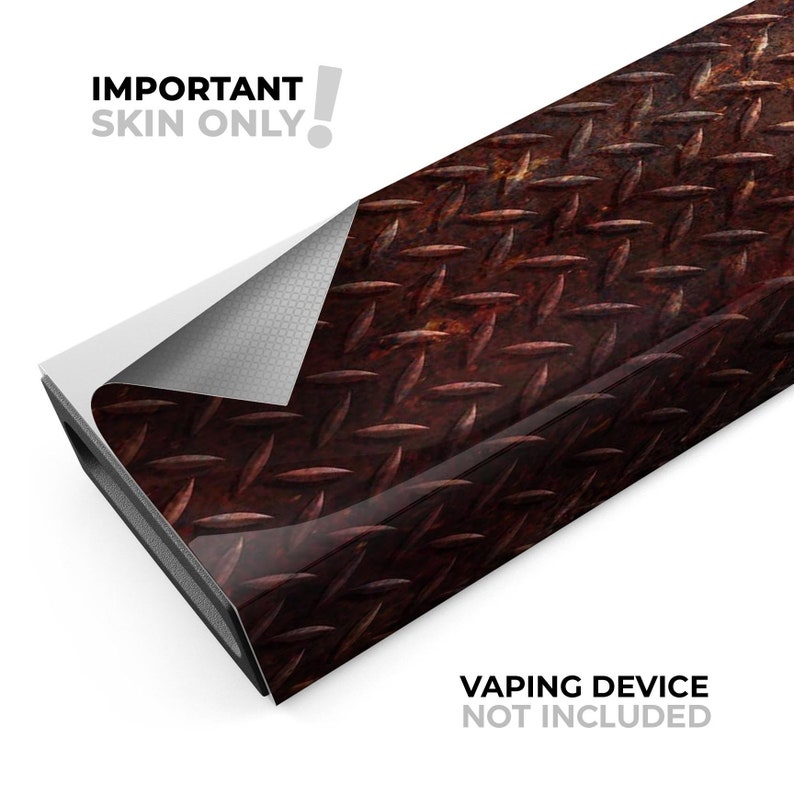 Rusty Diamond Plate Texture Device Not Included Protective Sticker Accessory Premium Skin Wrap Decal for the PAX JUUL